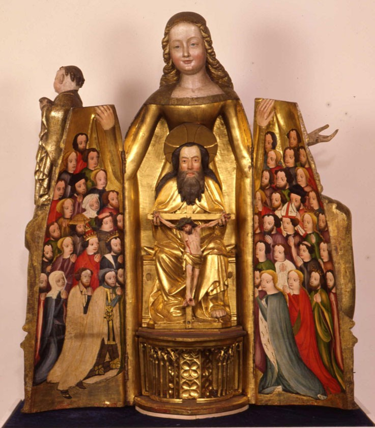 Prussian shrine madonna from the high altar of the Church of St. Marien, Elbing, around 1400