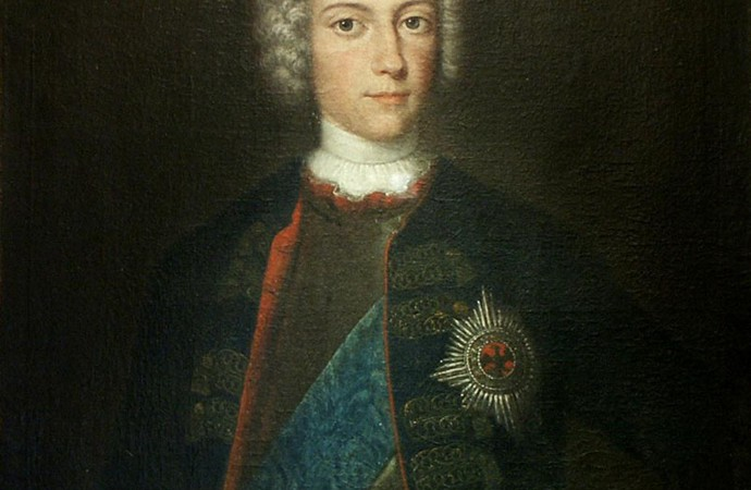 Crown Prince Frederick with black and white Order of the Eagle